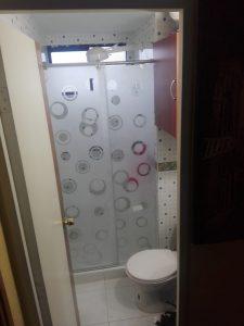 Division de baño en acrilico